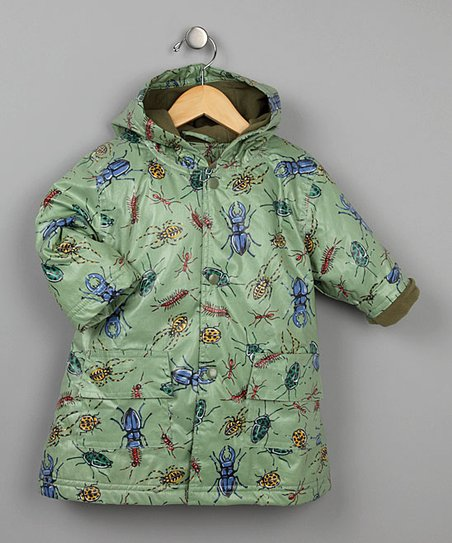 Green Bug Fleece-Lined Raincoat - Infant, Toddler & Kids