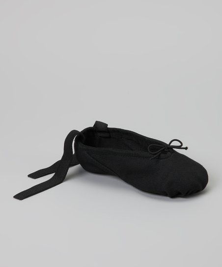 Black Canvas Dance Slipper