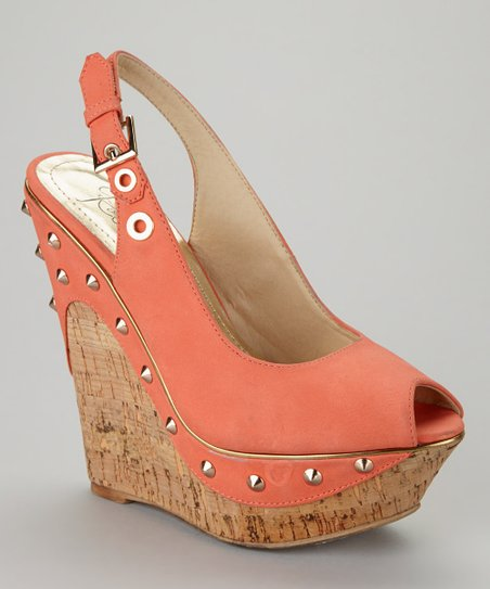 Coral Beverly-02 Peep-Toe Wedge