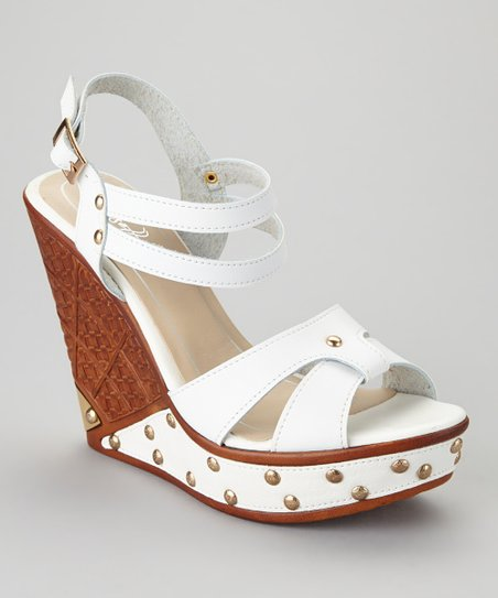 White Dolores-04 Wedge Sandal