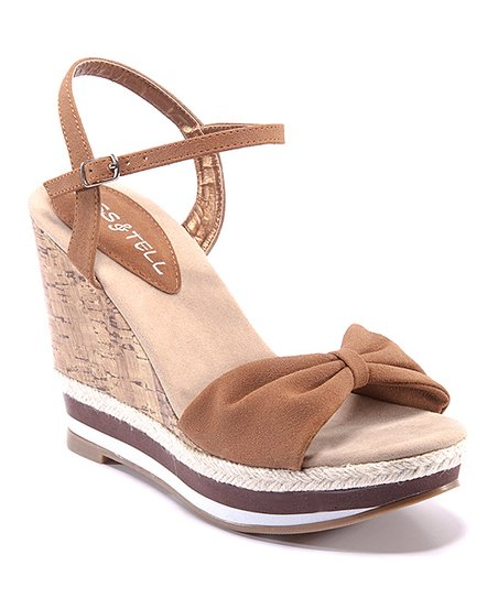 Brown & Beige Eliana Wedge
