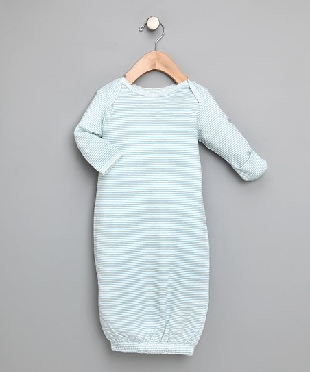 Blue Tiny Stripe Gown - Infant