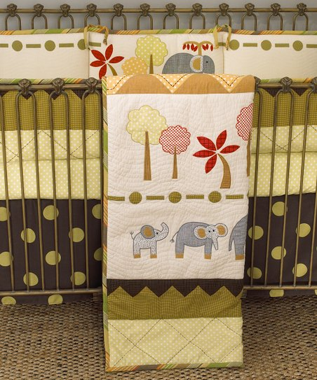 Elephant Brigade Crib Bedding Set