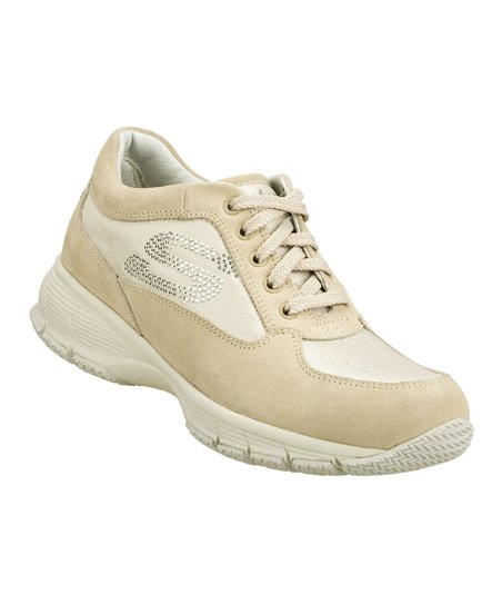 Cream & Natural Insiders Suede Sneaker