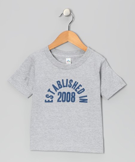 Athletic Heather 'Established in 2008' Tee - Toddler & Boys