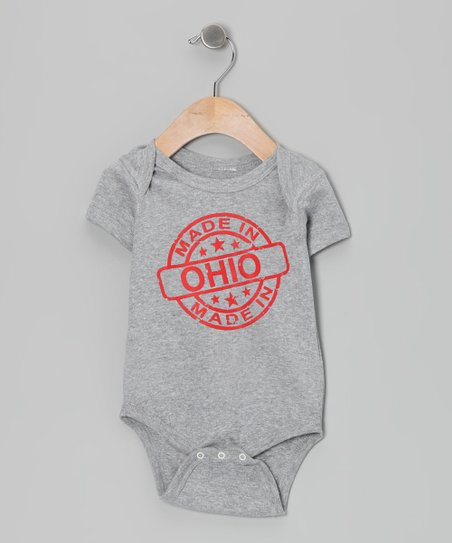Athletic Heather 'Made in Ohio' Bodysuit - Infant
