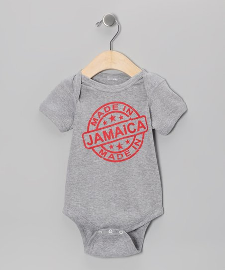 Athletic Heather 'Made in Jamaica' Bodysuit - Infant