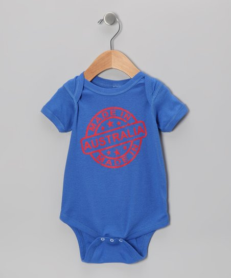 Royal Blue 'Made in Australia' Bodysuit - Infant