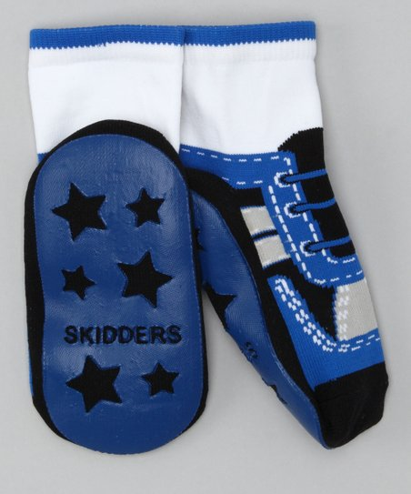Blue Gripper Socks