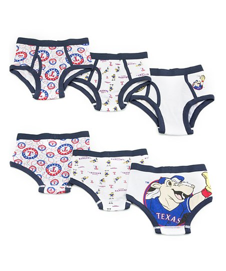 White Texas Rangers Briefs Set - Boys