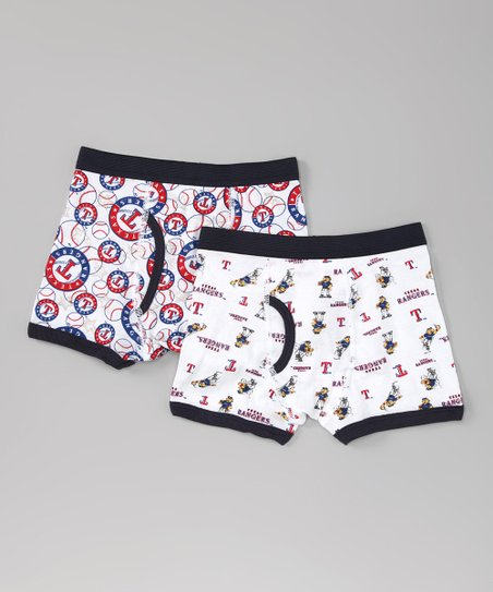 White Texas Rangers Boxer Briefs Set - Boys