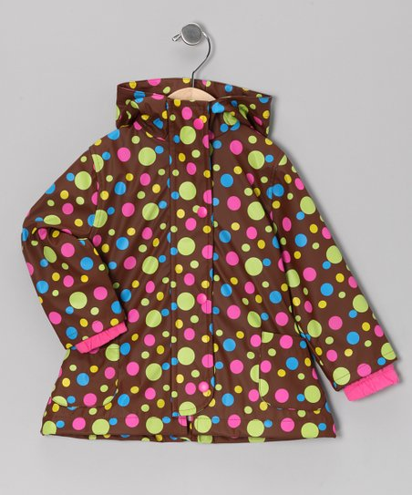 Brown Polka Dot Raincoat - Infant, Toddler & Girls