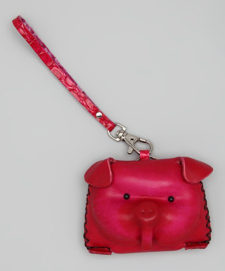 Pink Pig Leather Coin Purse