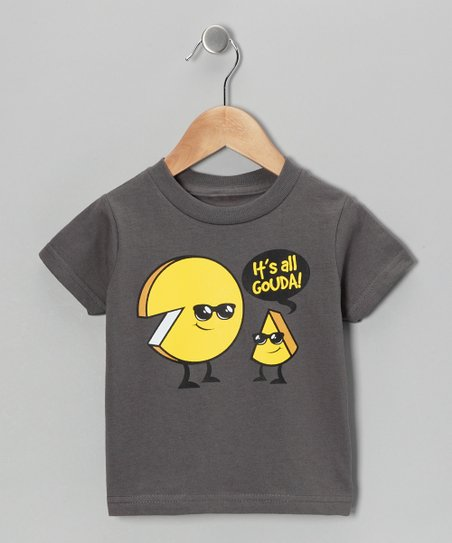 Charcoal 'It's All Gouda!' Tee - Infant, Toddler & Kids