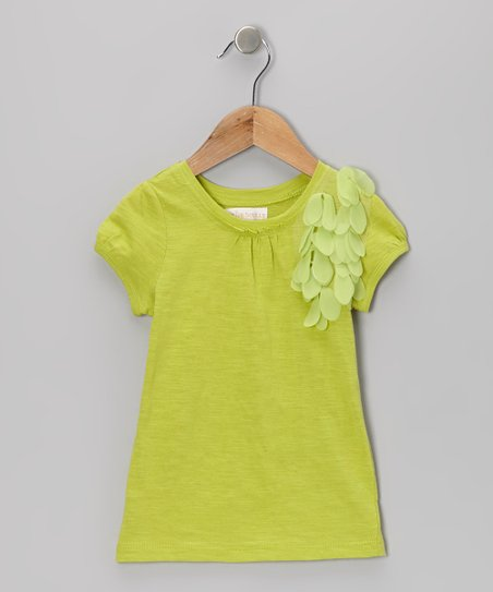 Green Flower Tee - Infant & Girls