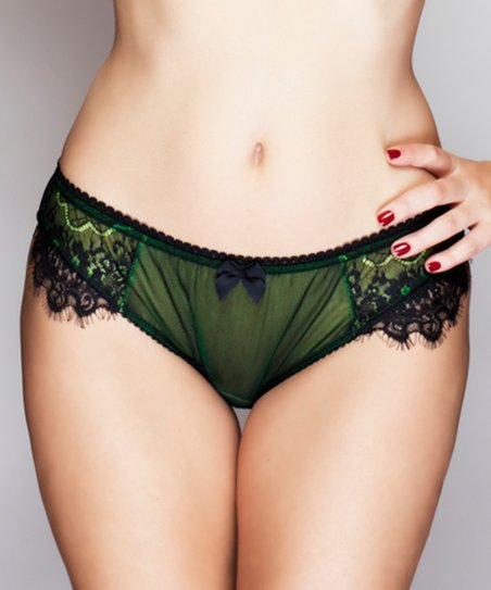 Neon Green En Dentelle Intense Bikini Briefs - Women & Plus