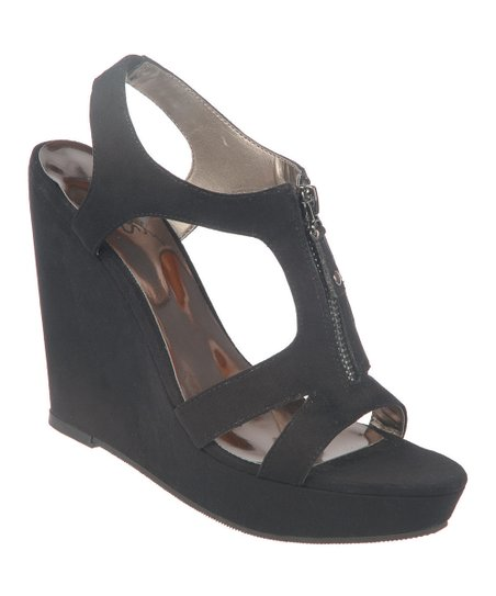 Black Pursuit Wedge Sandal
