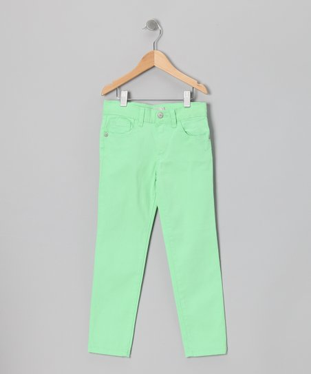 Lime Moto Straight-Leg Jeans - Toddler & Girls