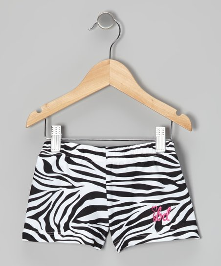 Black & White Zebra Shorts - Toddler & Girls
