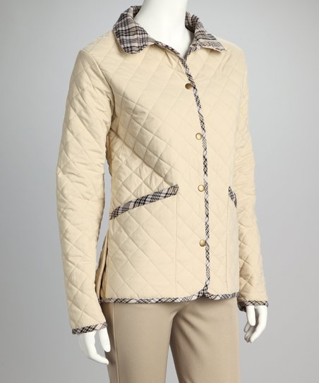 Fog Plaid Baker Quilted Jacket - Women & Plus