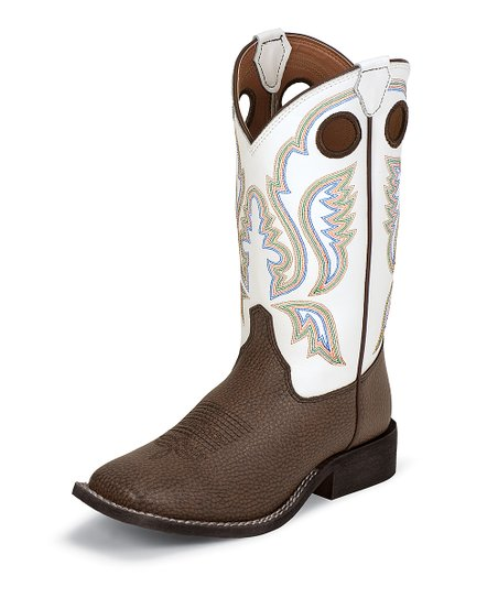 Chocolate Bisonte Cowboy Boot - Girls
