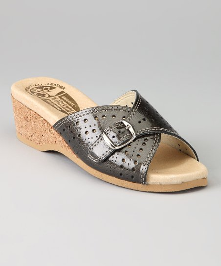 Gray Patent 251 Slide- Women