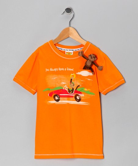 Orange Pocket Monkey Cruises Organic Tee - Infant, Toddler & Boys