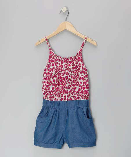 Red Leopard Romper - Toddler & Girls