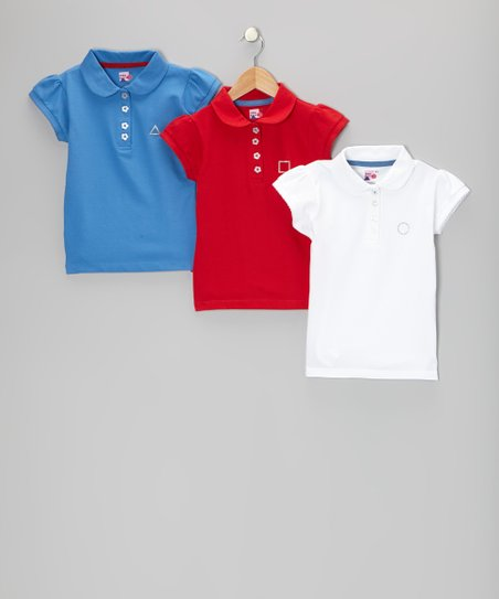 Red, White & Blue Savannah Polo Set - Toddler & Girls