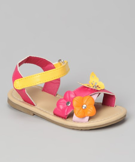 Fuchsia & Yellow Flower Alexa Sandal