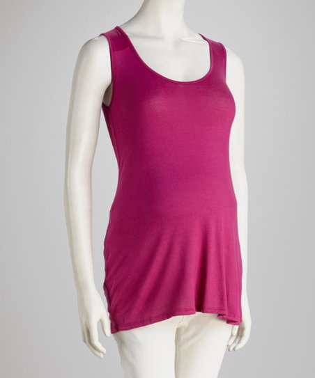 Berry Maternity Tank Top