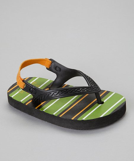 Black Stripe Sandal