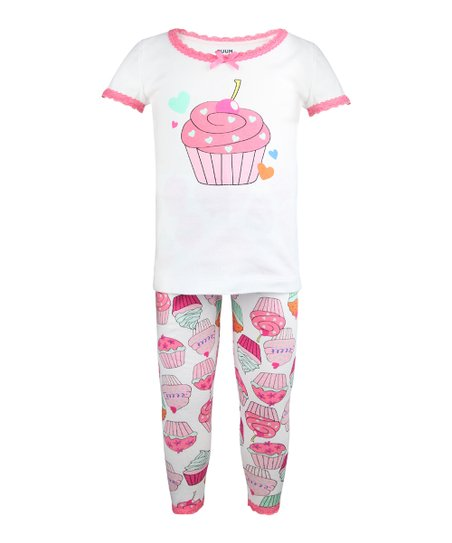Rose Cupcake Pajama Set - Infant, Toddler & Girls