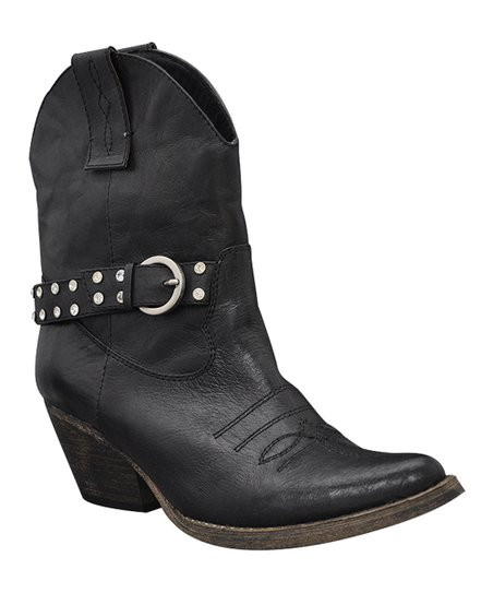 Black Hustle Cowboy Boot