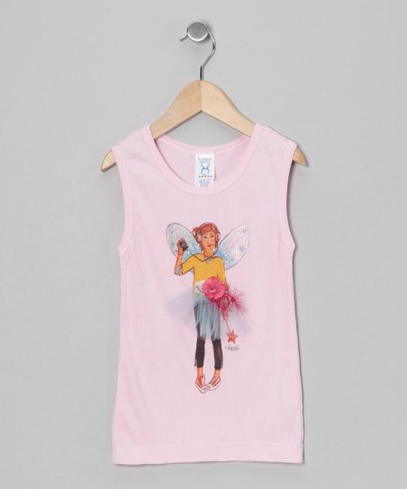 Sticky Pixies Pink Buttercup Fairy Tank - Toddler & Girls