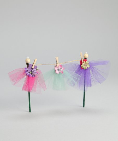 Sticky Pixies Blue & Pink Fairy Dress Garden Set
