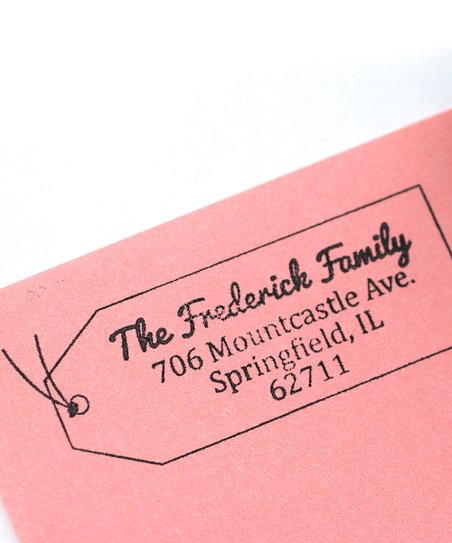 Fabulous Tag Personalized Self-Inking Stamp
