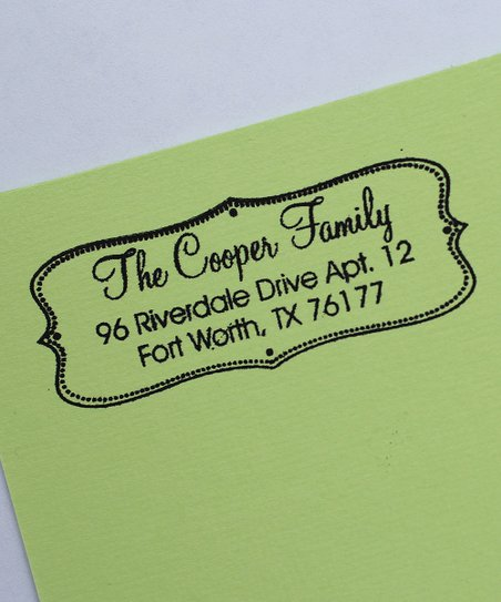 Modern Chic Personalized Self-Inking Stamp