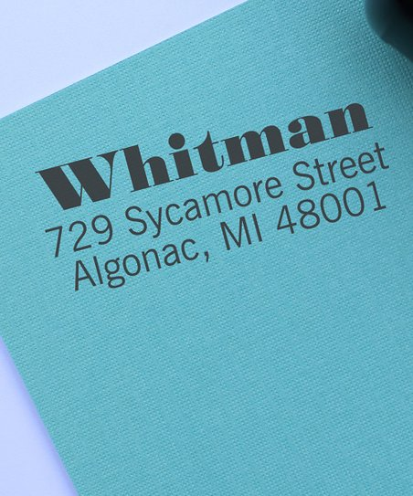 Whitman Personalized Self-Inking Stamp