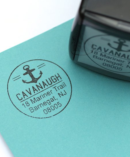 Anchors Aweigh Personalized Self-Inking Stamp