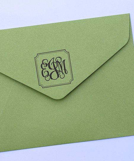 Classic Monogram Self-Inking Stamp