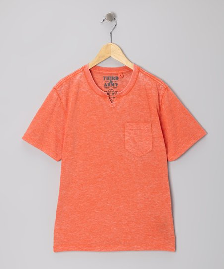 Orange Simpatico Knotch V-Neck Tee