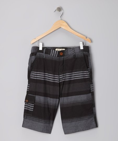 Black Montego Stripe Shorts