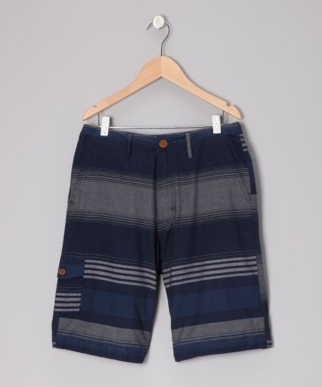 Navy Stripe Montego Shorts