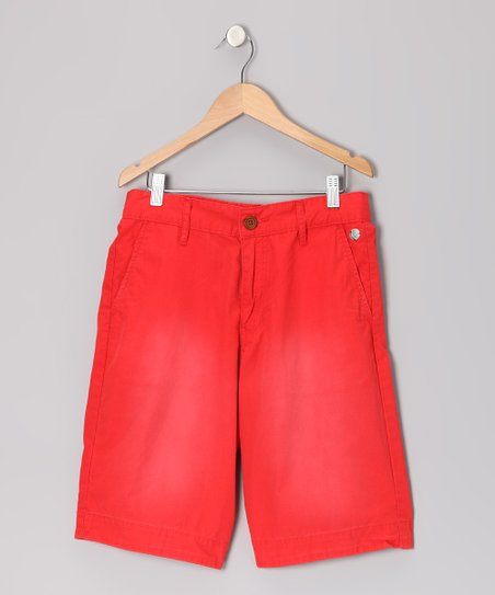 Fire Red Resort Chino Shorts - Boys