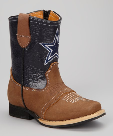 68064507c8c Dallas Cowboys Quarterback Roper Cowboy Boot – Kids | New Style Map ...