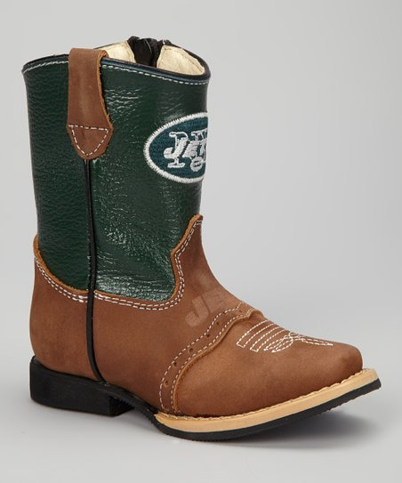 New York Jets Quarterback Roper Cowboy Boot - Kids