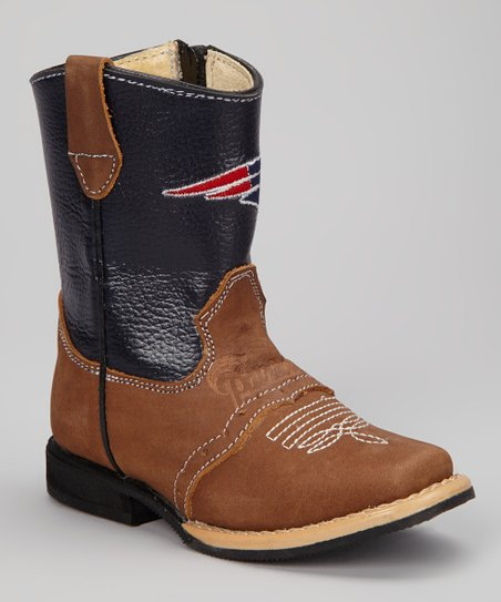 New England Patriots Quarterback Roper Cowboy Boot - Kids
