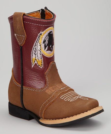 Washington Redskins Quarterback Roper Cowboy Boot - Kids