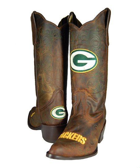Green Bay Packers Flyover Cowboy Boot - Women